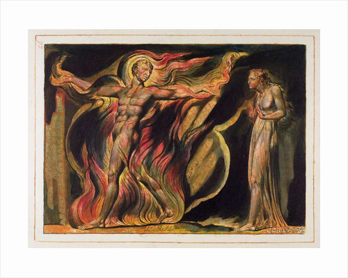 A Naked Man in Flames by William Blake