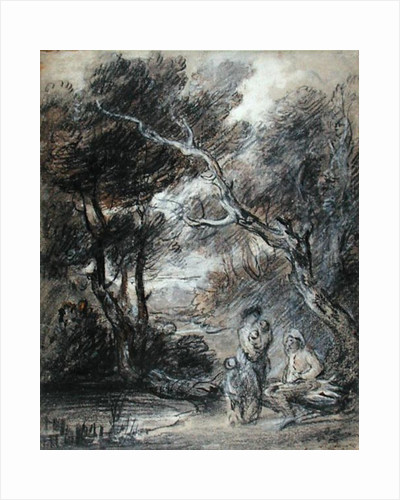 Wooded Landscape with Figures, c.1788 by Thomas Gainsborough