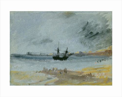 Ship Aground, Brighton by Joseph Mallord William Turner