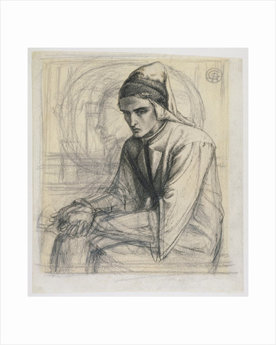 Dante in Meditation Holding a Pomegranate by Dante Gabriel Charles Rossetti