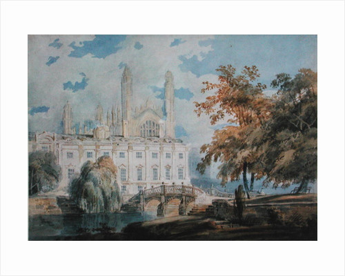 Clare Hall and the West End of King's College Chapel, Cambridge by Joseph Mallord William Turner
