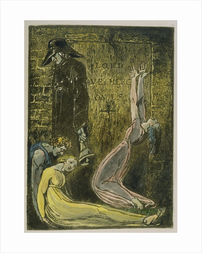 Plate 13 from 'Europe. A Prophecy' by William Blake