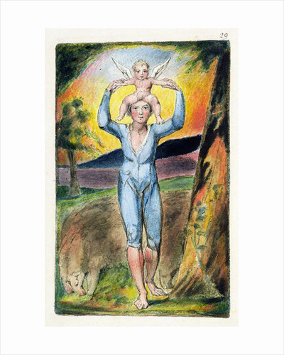 Frontispiece from 'Songs of Innocence and of Experience' by William Blake