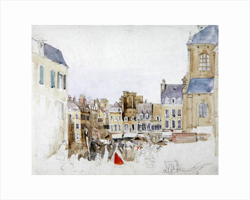 A French Market Place by David Cox