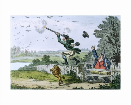 Cockney Sportsmen: Shooting Flying, engraved by James Gillray 1800 by Isaac Cruikshank