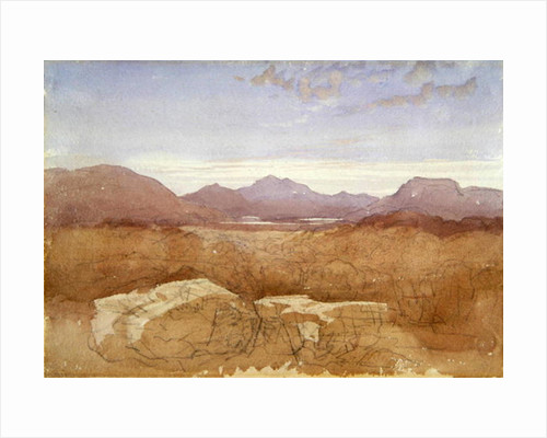 A Mountainous View, North Wales by David Cox