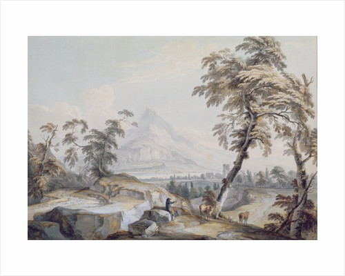Italianate Landscape with Travellers, no.1 by Paul Sandby