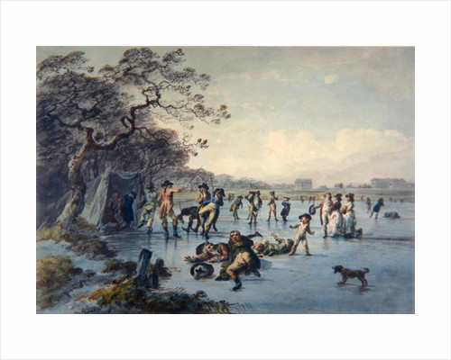 Skating in Hyde Park by Julius Caesar Ibbetson