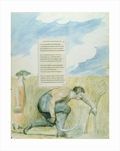 'Elegy written in a Country Church-yard', design 109 from 'The Poems of Thomas Gray' by William Blake