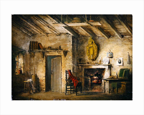 The Deans' Cottage, stage design for 'The Heart of Midlothian' by Alexander Nasmyth