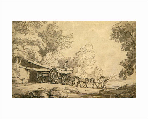 A Timber Wagon by Thomas Rowlandson