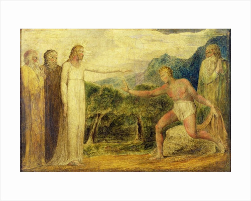Christ giving sight to Bartimaeus by William Blake