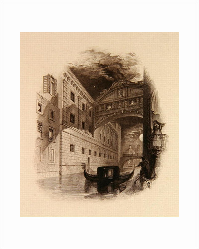 The Bridge of Sighs, Venice by Edward Francis Finden