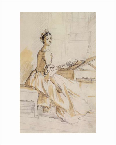 Portrait of a Lady at a Drawing Table by Paul Sandby