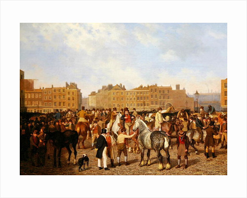 Old Smithfield Market, London by Jacques-Laurent Agasse