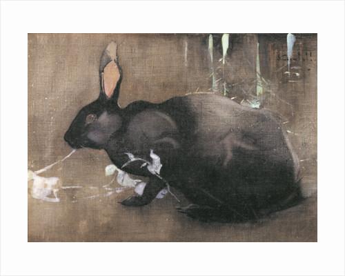 A Black Rabbit by Joseph Crawhall