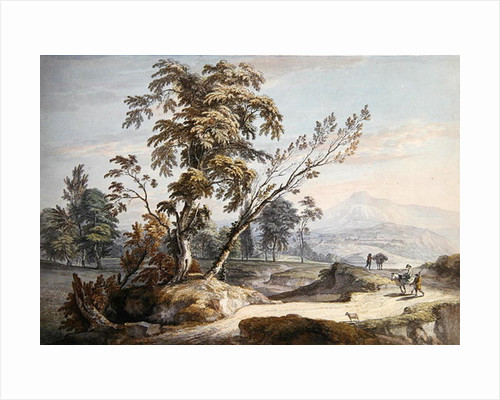 Italianate Landscape with Travellers no.2 by Paul Sandby