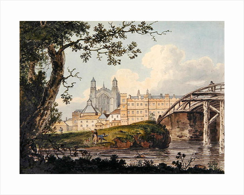 Eton College from Datchet Road, c.1790 by Thomas Girtin