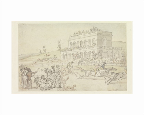Doctor Syntax loses his money on the Race Ground at York by Thomas Rowlandson