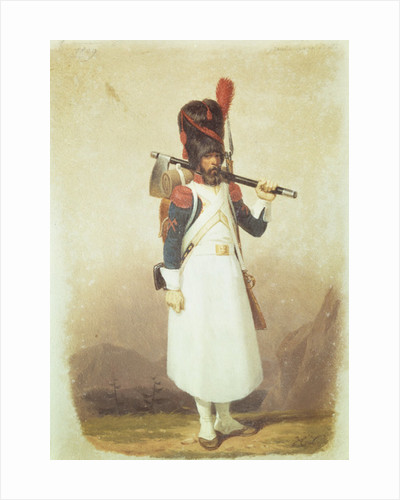 Napoleonic Soldier by English School