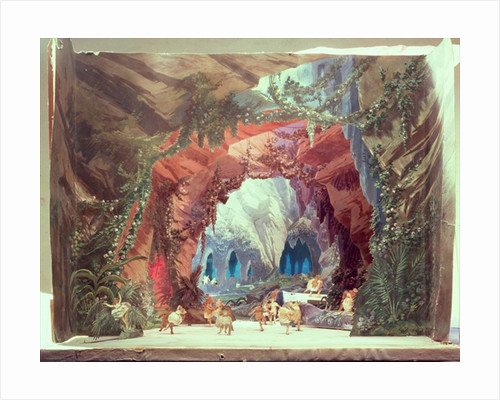 Stage model for the opera 'Tannhauser' by Richard Wagner by German School