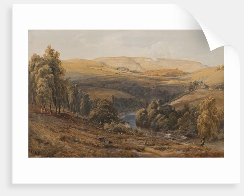 Valley of the Dee, near Llangollen by Bernard Walter Evans
