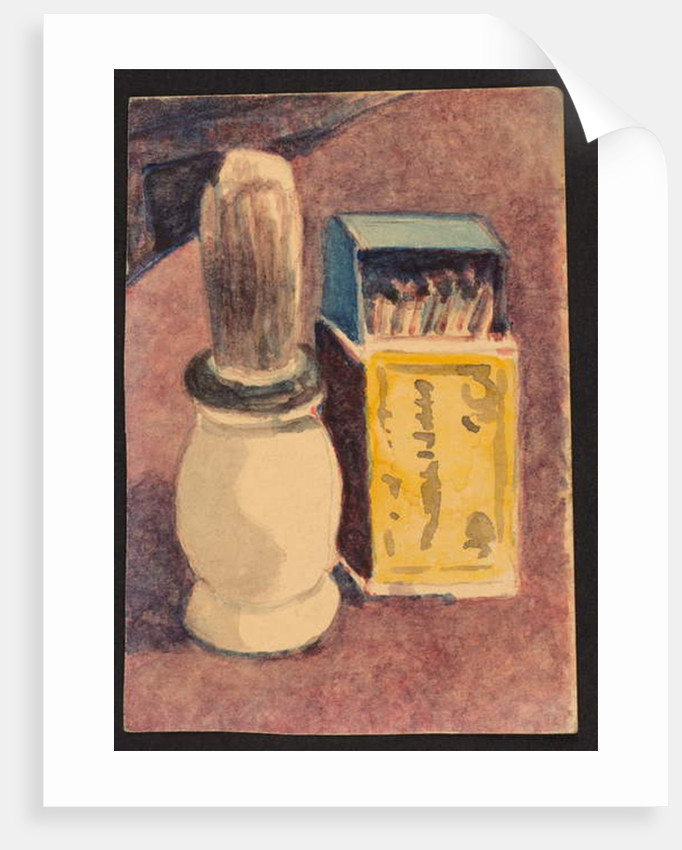 Shaving brush and matches, c.1930 by Henry Silk