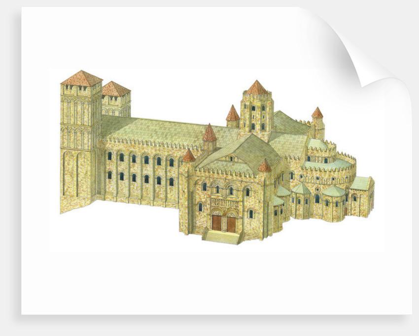 Santiago de Compostela Romanesque Cathedral. Reconstruction. Spain by Fernando Aznar Cenamor