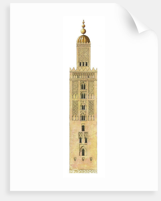 Islamic Minaret. Sevilla Cathedral, Spain. Reconstruction by Fernando Aznar Cenamor