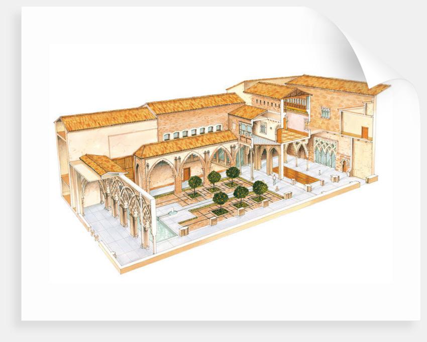 Aljaferia. Zaragoza, Spain. Islamic palace. Santa Isabel courtyard by Fernando Aznar Cenamor