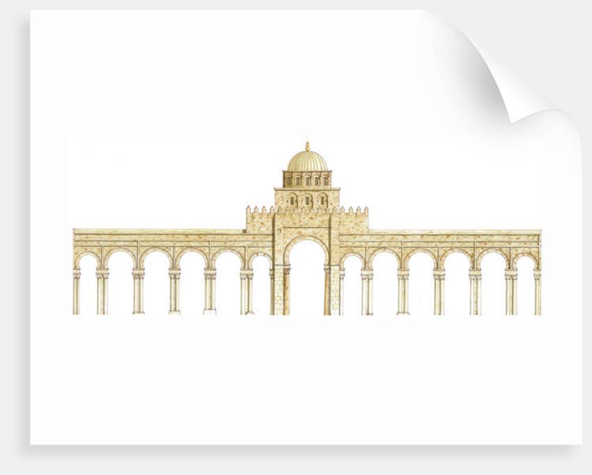 Mosque of Uqba. Kairouan, Tunisia. Main façade by Fernando Aznar Cenamor