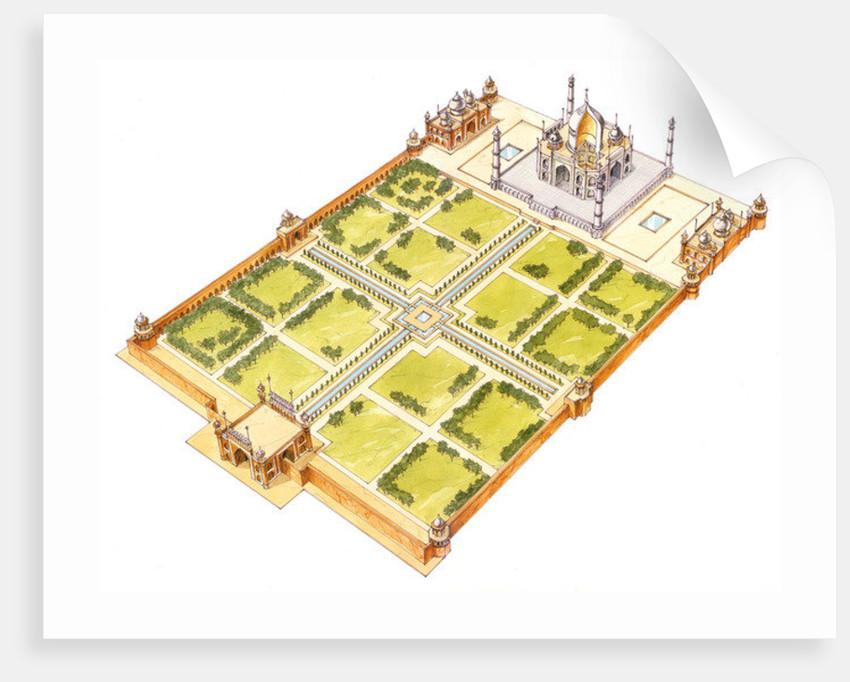 Taj Mahal. Adra, India. Tomb and gardens by Fernando Aznar Cenamor