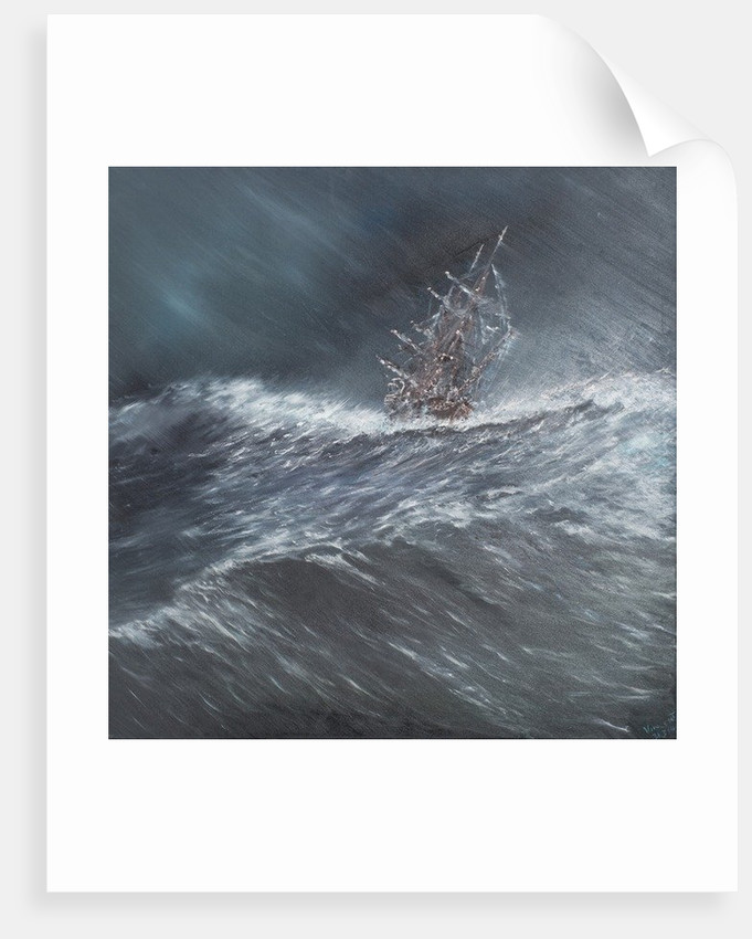 HMS Beagle in a storm off Cape Horn (2) Dec. 24th 1832 by Vincent Alexander Booth