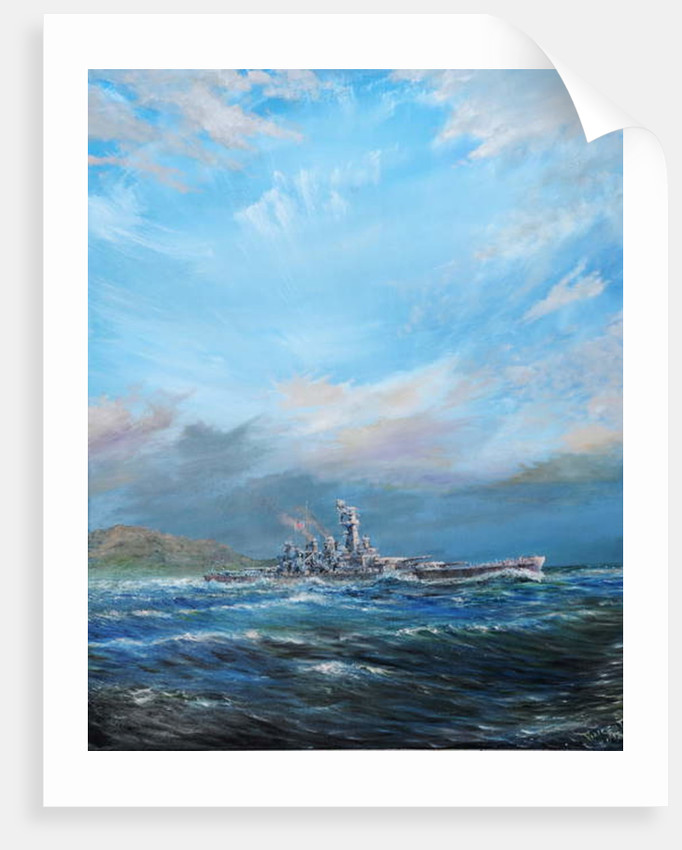 USS Washington leaves Guadalcanal, 2018 by Vincent Alexander Booth