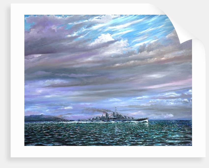 USS Juneau Guardalcanal 1942, 2019 by Vincent Alexander Booth