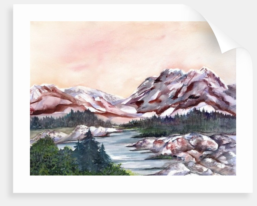 Rocky Hills and water. by Neela Pushparaj