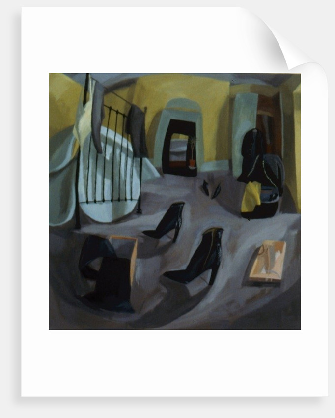 Bedroom with Boots by Mary Mabbutt