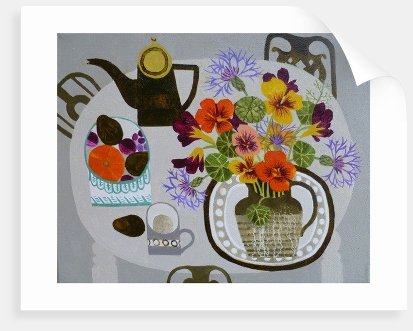Nasturtiums and Squash by Vanessa Bowman