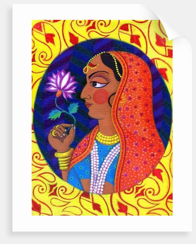 Maharani with white and pink flower by Jane Tattersfield