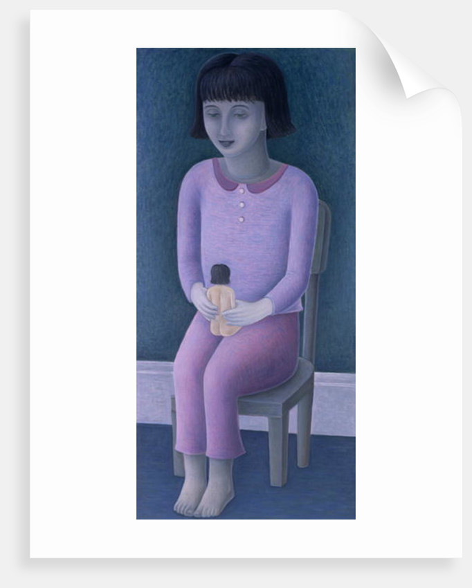 Girl and Doll by Ruth Addinall