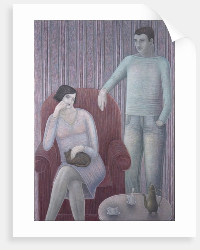 Couple with Cat by Ruth Addinall