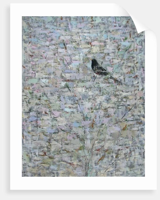 Blackbird in Tree by Ruth Addinall