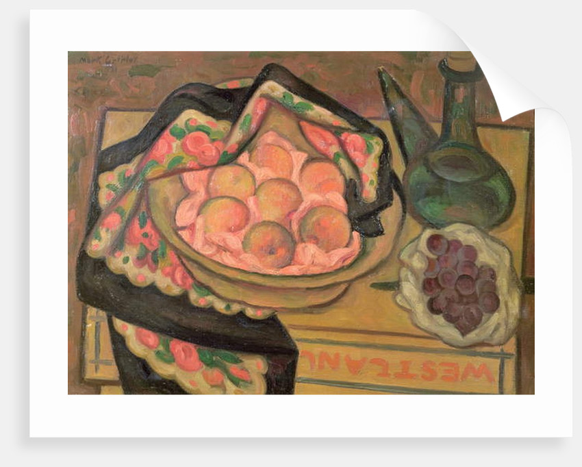 Peaches and a Green Bottle, 1931 by Mark Gertler