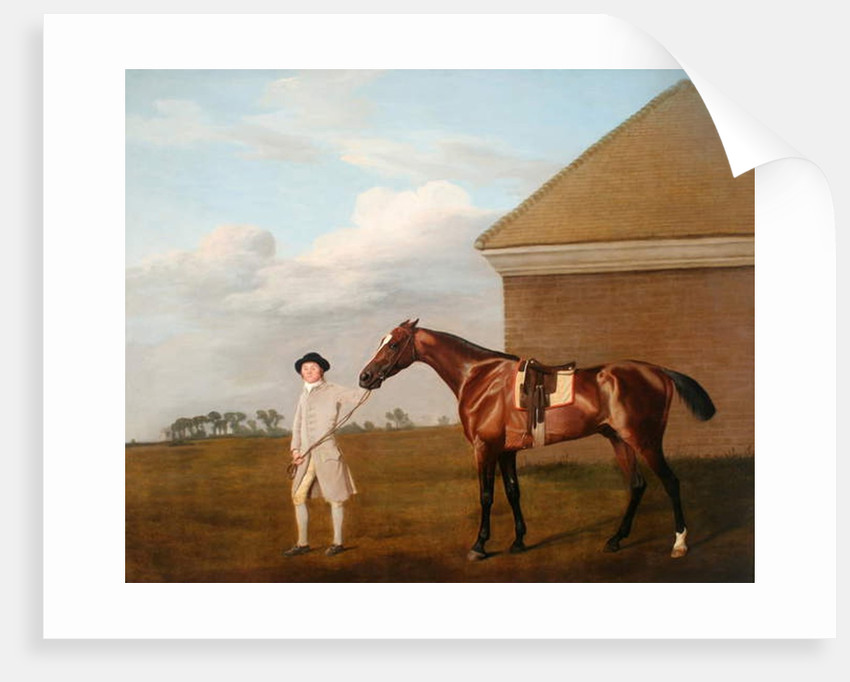 'Firetail' with his Trainer by the Rubbing-down House on Newmarket Heath, 1773 by George Stubbs