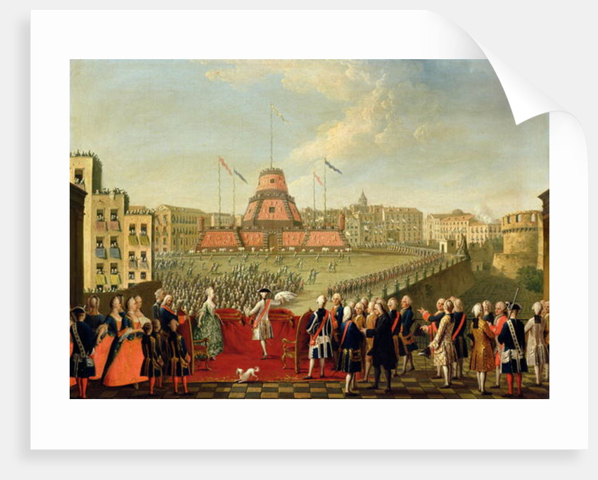 Fete at Naples on the Occasion of the Marriage of King Ferdinand I to the Archduchess Maria Carolina of Austria 1768 by Pietro Fabris