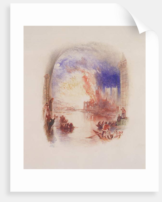 The Burning of the Houses of Parliament by Joseph Mallord William Turner