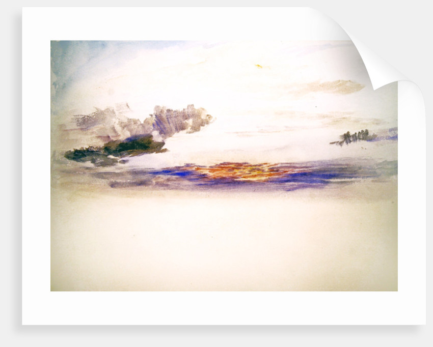 The sky at dawn by Joseph Mallord William Turner