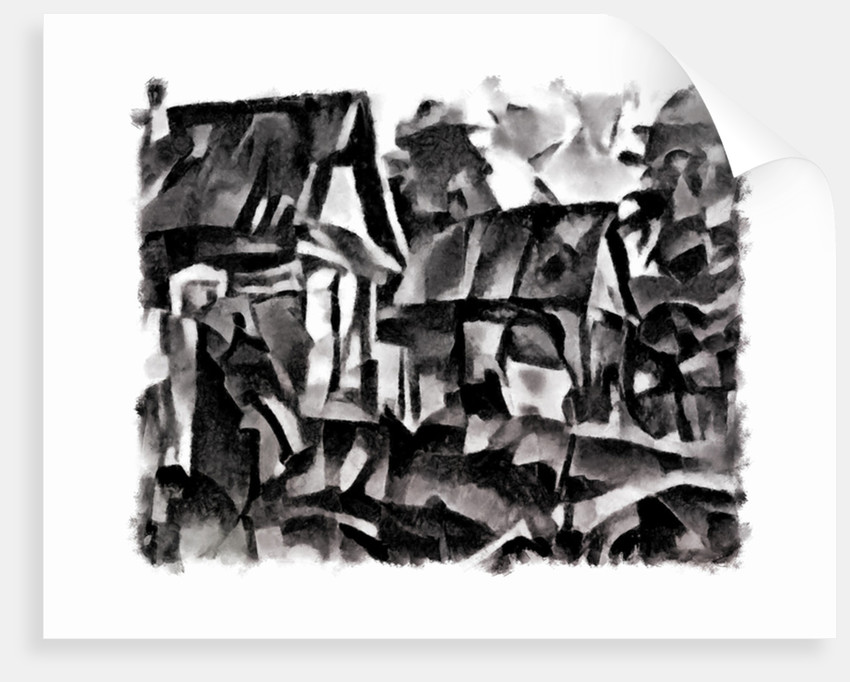 view (black) #2, 2016 by Alex Caminker