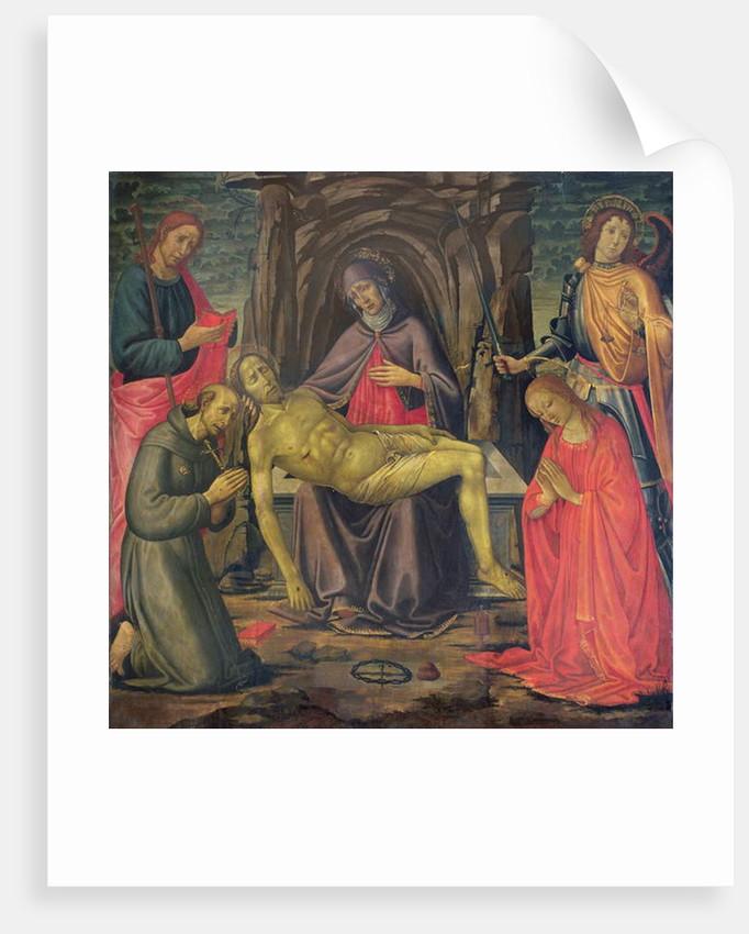 Pieta and Saints by Jacopo del Sellaio