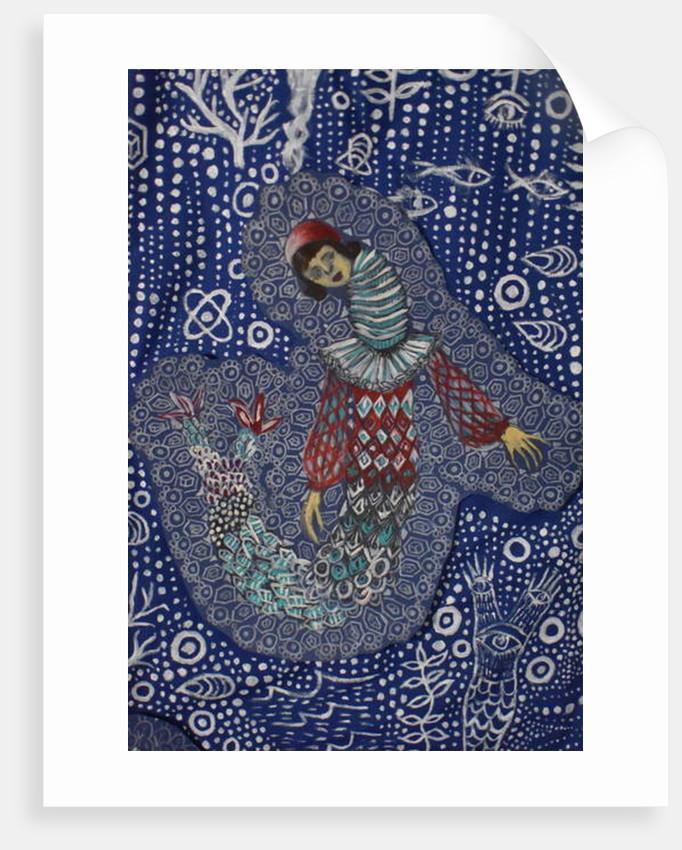 Harlequin Mermaid, 2018 by Hazel Florez